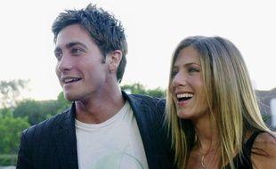 Jake Gyllenhaal et Jennifer Aniston arrivent à une avant première de «The Good Girl», à Los Angeles, le 7 août 2002.