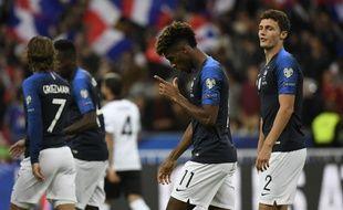 Kingsley Coman a inscrit un doublé avec l'équipe de France, face à l'Albanie, le 7 septembre 2019.