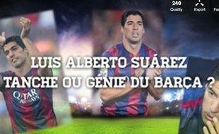 Luis Suarez va effectuer son retour lors du Clasico entre Barcelone et le Real Madrid, le 25 octobre 2014.