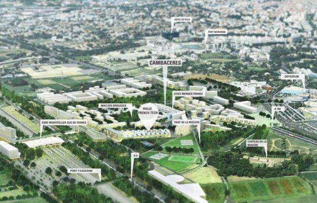 Plan du futur quartier Cambacérès à Montpellier.