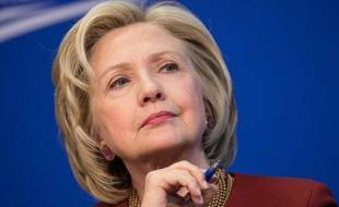 La démocrate Hillary Clinton lors d'un débat à Washington, le 26 mars 2015