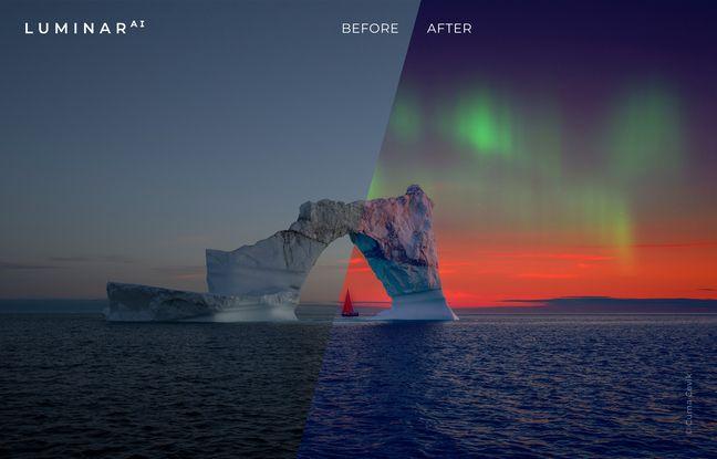 Luminar AI permet de transformer les ciels.