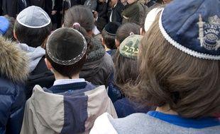 Des enfants portant une kippa. (Illustration)