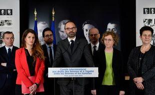 Conférence de presse d'Edouard Philippe, le 8 mars 2018.
