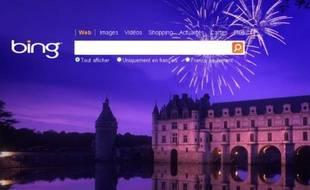Capture d'écran du moteur de recherche de Microsoft, Bing, le 1er mars 2011