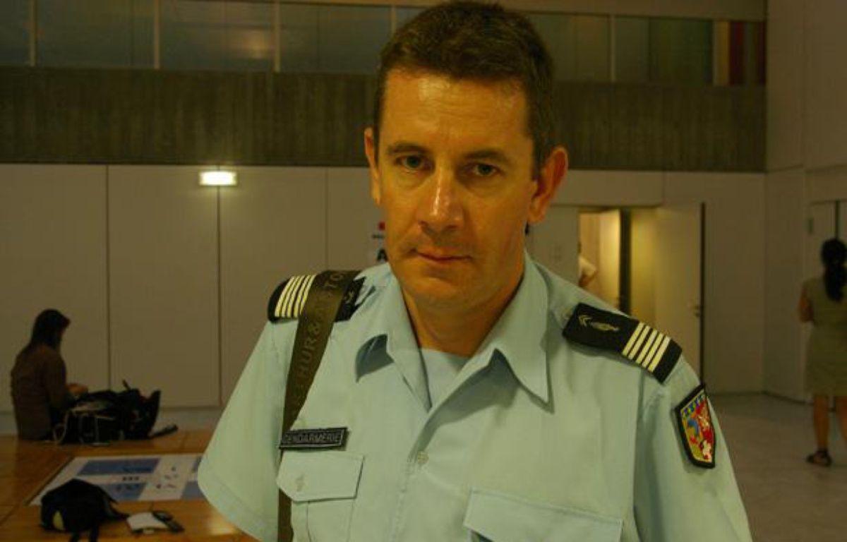 Le colonel Bertrand François, commandant de groupement de gendarmerie de Haute-Savoie, le 8 septembre 2012, à Annecy. – W.MOLINIE / 20 MINUTES