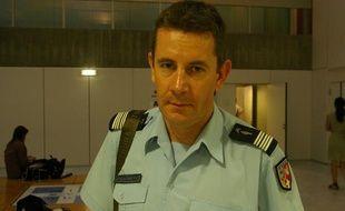 Le colonel Bertrand François, commandant de groupement de gendarmerie de Haute-Savoie, le 8 septembre 2012, à Annecy.
