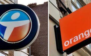 Montage des logos de Bouygues Télécom et Orange