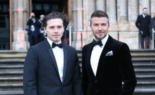 Brooklyn Beckham et son père, David, à l'avant-première de Our Planet à Londres