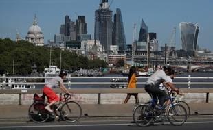 La City à Londres, quartier d'affaires de la capitale.