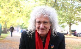 Le musicien Brian May à Cheltenham au Royaume-Uni