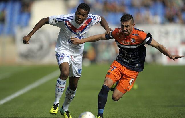 Ici opposé à l'ancien Lyonnais Anthony Mounier en octobre 2013, Alassane Pléa n'a disputé que 7 matchs de Ligue 1 avec l'OL.