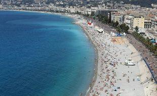 La Promenade des Anglais et la plage à Nice le 17 juillet 2016