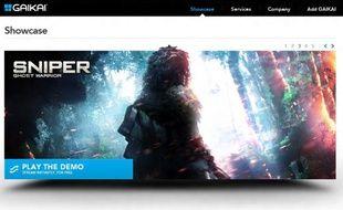 Gaikai est un service américain de jeu en streaming qui permet de jouer gratuitement à des démos ou à des premiers niveaux de jeux récents directement dans son navigateur.
