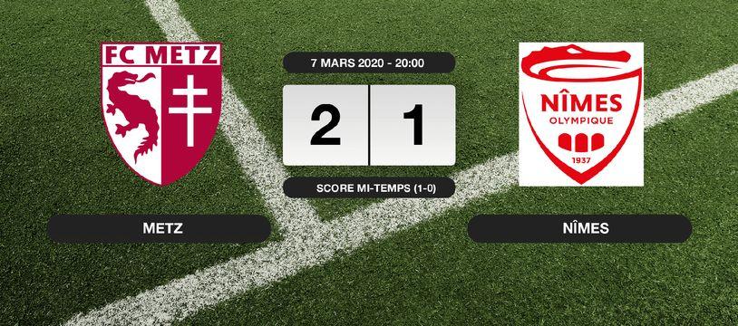 Metz - Nîmes: Metz s'impose à domicile 2-1 contre Nîmes
