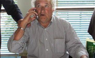 L'ancien joueur de football de Saint-Etienne Hervé Revelli, le 12 mai 2006 à Paris