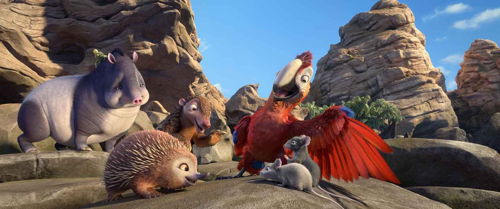 Toute une faune d 39 animaux anim s vole la vedette robinson cruso - Mercredi robinson crusoe ...