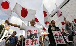 Des manifestants antichinois à Tokyo (Japon), le 18 septembre 2012.