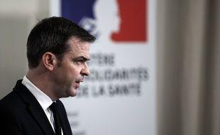 Olivier Véran au ministère de la Santé, le 28 janvier 2021. (illustration)