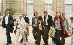 Les ONG reçues à l'Elysée pour préparer le Grenelle de l'Environnement, en mai 2007.