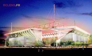 Image du stade Bollaert-Delelis rénové.