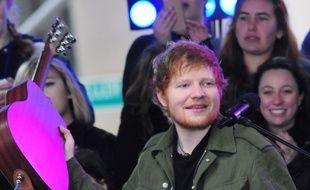 Le chanteur Ed Sheeran sur scène à New York