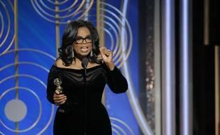 Oprah Winfrey lors des Golden Globes, le 9 janvier 2018.