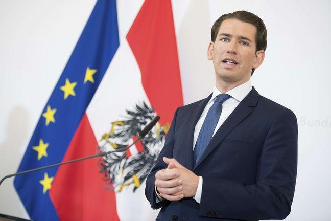 Sebastian Kurz, futur ex-chancelier autrichien, le 21 mai 2019.