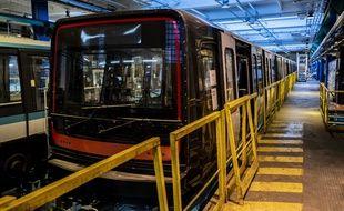 Le nouveau train de la ligne 14.