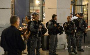 Des policiers israéliens à Tel-Aviv, le 8 juin 2016.