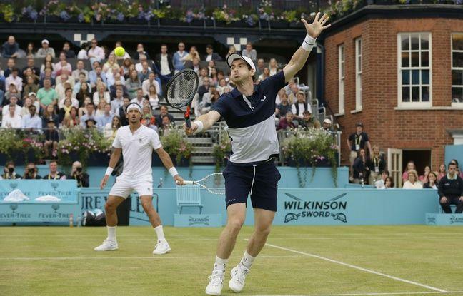 Queens: Retour gagnant... Pour son premier tournoi depuis son opération, Andy Murray gagne en double