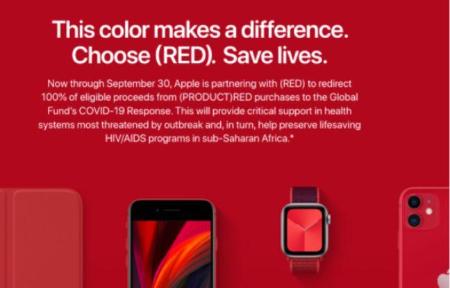 Les bénéfices des produits RED seront reversés à la lutte contre le coronavirus