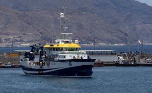 Le Angeles Alvarino, de l'institut océanographique espagnol a pris la mer pour relancer les recherches.