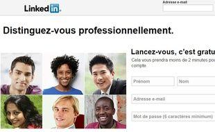 La page d'accueil de LinkedIn