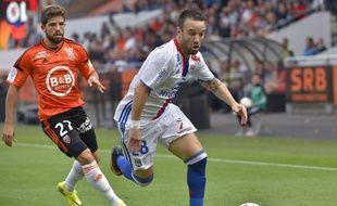 Mathieu Valbuena a été titularisé pour la 1ère fois depuis 5 mois lors de Lorient-Lyon, le 24 septembre 2016.