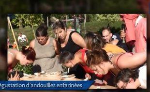 La fête de l'andouille et du cornichon à Bèze en Bourgogne.