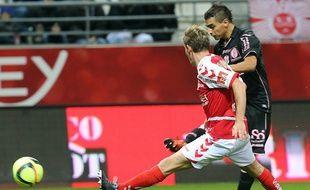 L'attaquant du TFC Wissam Ben Yedder a inscrit un triplé à Reims en Ligue 1, le 9 janvier 2016.