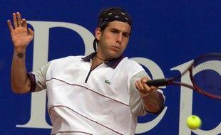 Le Français Jérôme Golmard en avril 2001 au tournoi de Monte-Carlo.