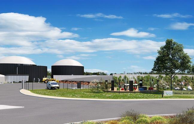 La future centrale de méthanisation ariégeoise de Montaut, à 60 kilomètres au sud de Toulouse.