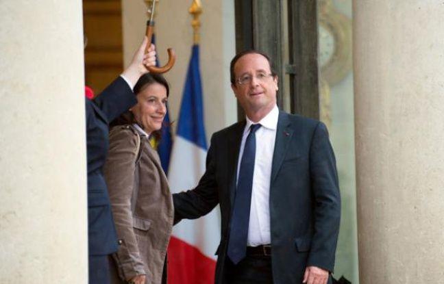 Cécile Duflot et François Hollande le 7 juin à l'Elysée.