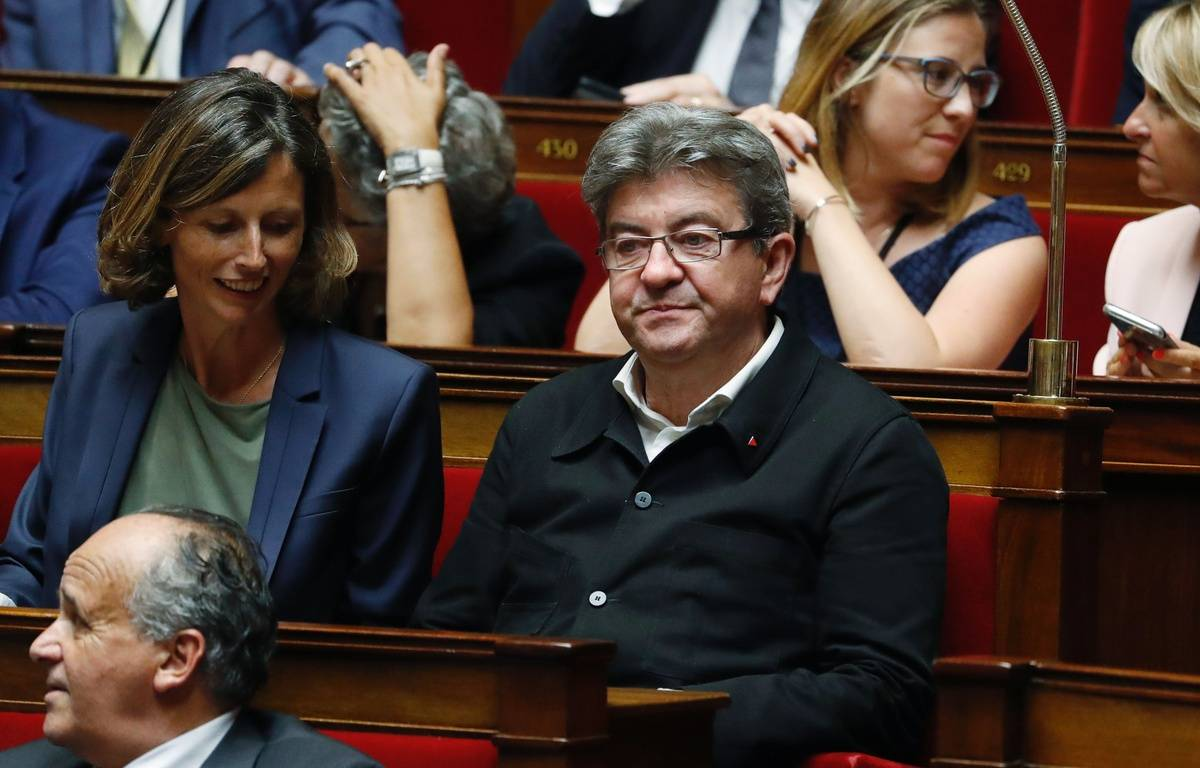 Jean-Luc Mélenchon à l'Assemblée nationale, le 27 juin 2017 à Paris.AFP PHOTO /Patrick KOVARIK – AFP