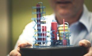 Un modèle imprimé en 3D avec la technologie «multi jet fusion» de HP.