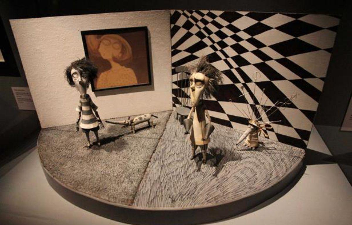 Une des oeuvres réalisées par Tim Burton et exposées à la Cinémathèque française du 7 mars au 5 août 2012. – PMG/SIPA