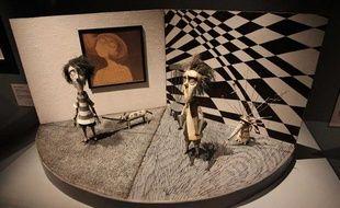 Une des oeuvres réalisées par Tim Burton et exposées à la Cinémathèque française du 7 mars au 5 août 2012.