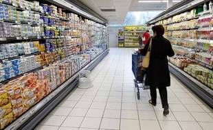 Dans un supermarché à Vaucresson en octobre 2010.
