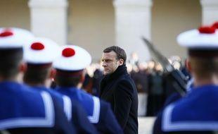 Un hommage national est rendu à Jean d'Ormesson ce vendredi 8 décembre 2017 aux Invalides, à Paris.