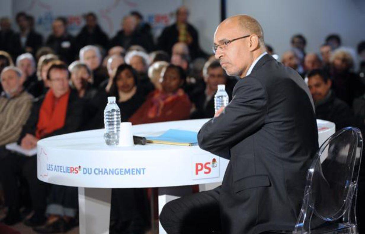 Harlem Désir aux premiers «ateliers du changement» du Parti socialiste, le 7 février 2013 à Brest. – AFP / FRED TANNEAU