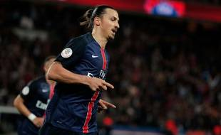 Zlatan Ibrahimovic lors du match entre le PSG et Toulouse le 13 novembre 2015.