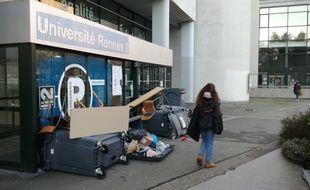L'université Rennes 2 est bloquée ce lundi matin.
