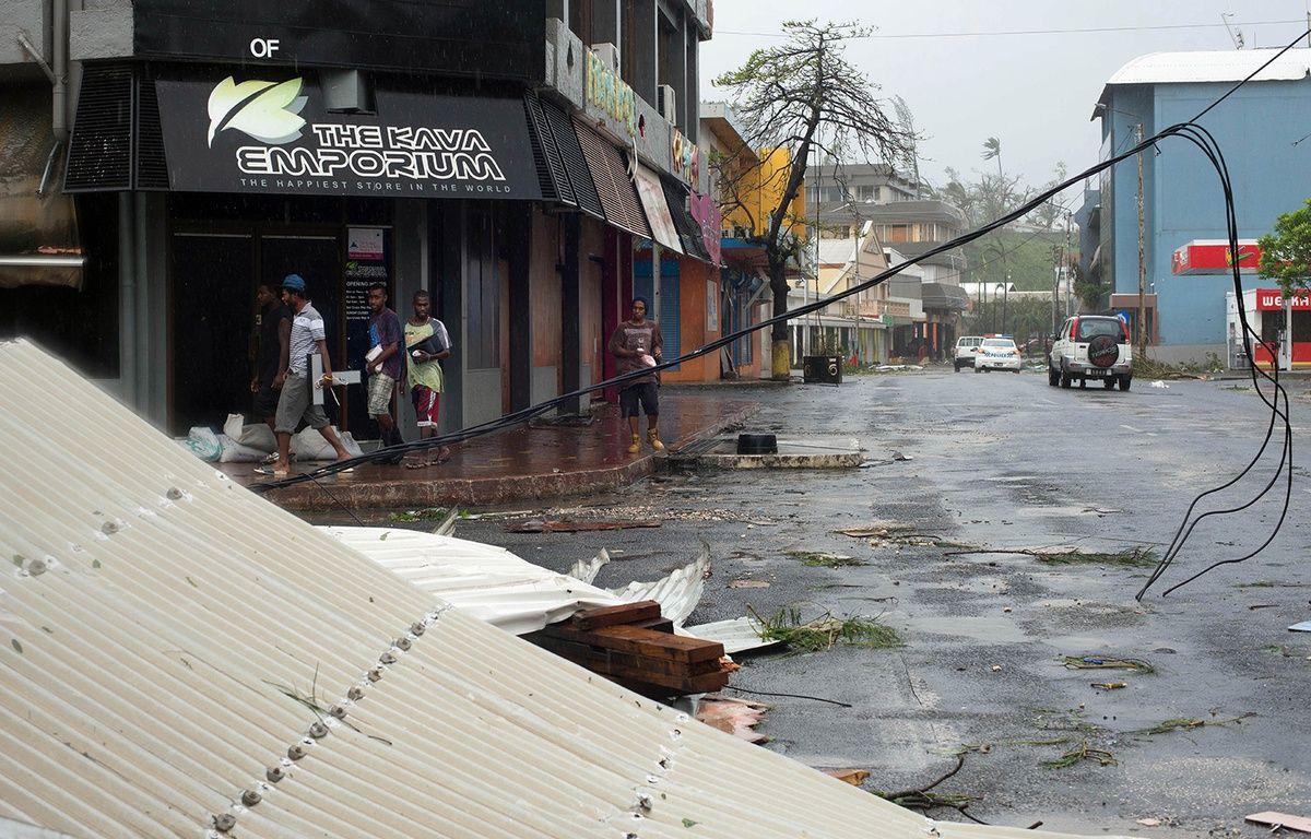Les dégâts du cyclone Pam dans la capitale du Vanuatu, Port Vila, le 14 mars 2015. – UNICEF Pacific / AFP
